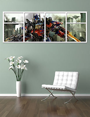 TRANSFORMERS  OPTIMUS PRIME GIANT WINDOW VIEW PRINTED POSTER Amazing