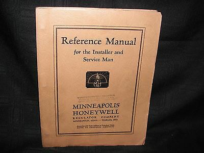Vintage 1936 Honeywell Installer Reference Manual Minneapolis