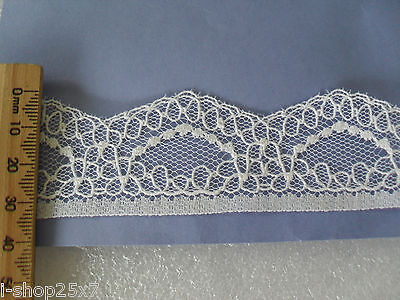 White lace trim 3.5cm x 2.24m lingerie sewing craft scrapbooking DIY bridal card