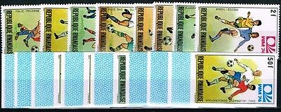 Ruanda 1974 World Cup.Soccer.Football.Fussball.A&B.MNH**