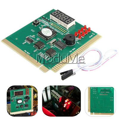 New PC Motherboard Diagnostic Card 4-Digit PCI/ISA POST Code Analyzer MO