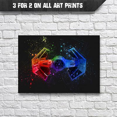 Advanced TIE Fighter Poster - Star Wars Watercolour Wall Art Print - A4 Prints