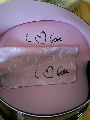 Bebe Black & Pink Large Sunglasses Case, Eyeglasses, Oversized, Cleaning Cloth