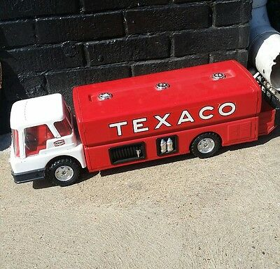Vintage Texaco Jet Fuel Airplane Gas Pressed Steel Delivery Truck Toy & Box