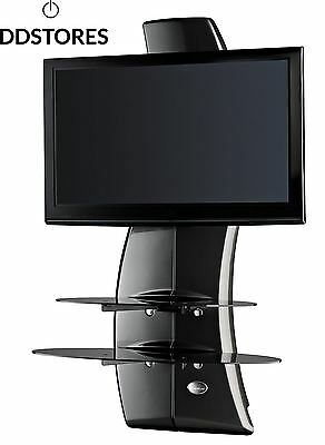 Meliconi Ghost Design 2000 Support Mural pour TV Plasma LCD Noir Carbone