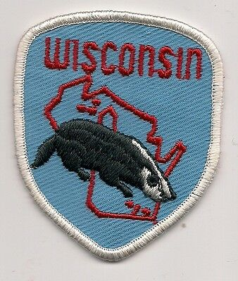 Souvenir Patch State Of Wisconsin - Badger State -Blue