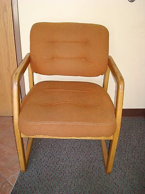 Oak upholstered waiting room chairs medical-dental REDUCED PRICE