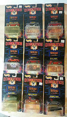 Set complet 9 Hot Wheels - Demolition Man - with Store Cryo-Cubes! 1/64 - MOC !