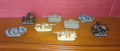 8x Micro Machines Military Panther Tiger Tank's  Zephyr T-30  AAVP-7A1 Vehicles