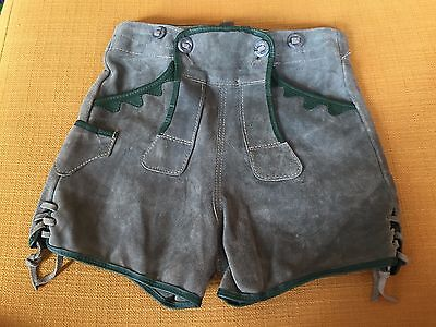 Vintage Children's Meyer Schuchardt Lederhosen Suede Shorts