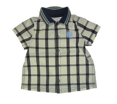 MEXX short sleeve Baby Shirt blue checkered sz. 68