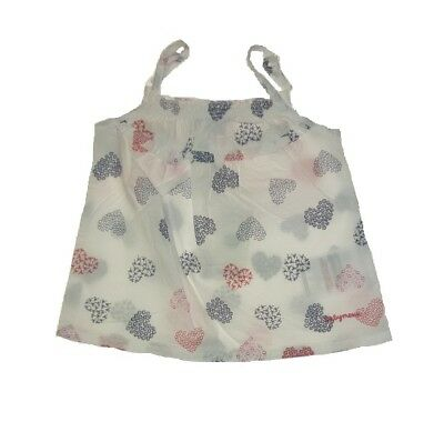MEXX girls Baby tunic-blouses Heart motives sz. 62, 68