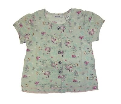MEXX girls Baby T-Shirt light blue in flowers all over print sz. 62, 68