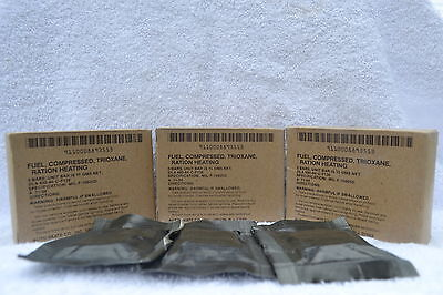 C-Rations Military Compressed Fuel 3 Boxes Emergency Survival Preppers Camping