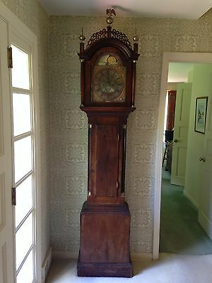 ANTIQUE CHIPPENDALE GRANDFATHERS CLOCK 18TH C mahogany  TALLCASE LONGCASE