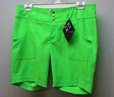 New Ladies Size 2 jofit neon lime polyester spandex golf shorts