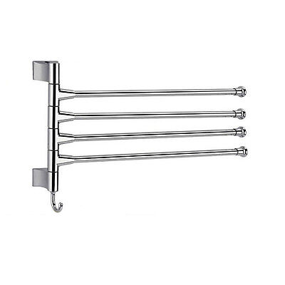 4 Layers Shower Curtain Poles Bathroom Towel Rack Holder Polished Rack Holder