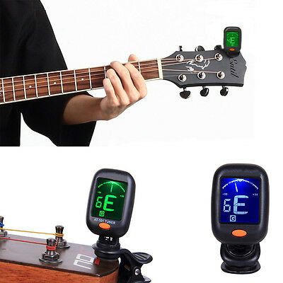 High Quality Portable Clip On Digital Tuner  Guitar Bass Accessory Easy to use