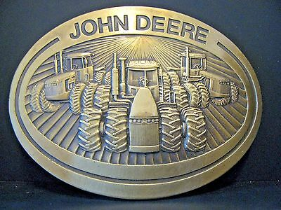 John Deere 8850 8650 8450 Four Wheel Drive Tractor Brass Belt Buckle 1981   8050