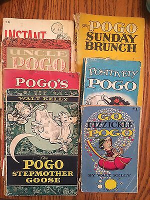 Lot of 6 Pogo books by Walt Kelly - First and Second printings