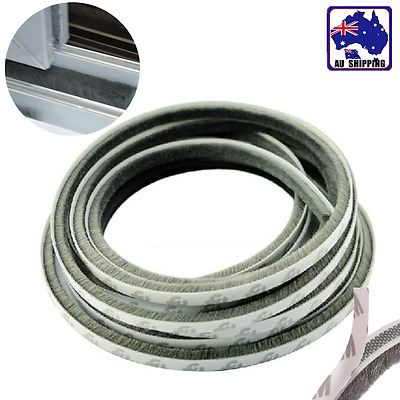 20m Draught Excluder Brush Strip 9x9mm Window Seal Tape Grey TTUM55599x20m