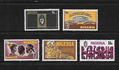 NIGERIA - mint 1976 2nd World Black & African Festival of Arts Culture, MNH MUH