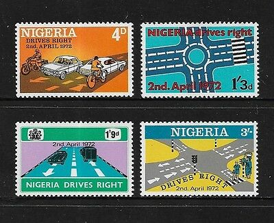 NIGERIA - mint 1972 Change to Driving on Right, set of 4, MNH MUH