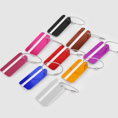 Luggage Tags Alloy Suitcase Label Name Address ID Bag Baggage Tag Travel New