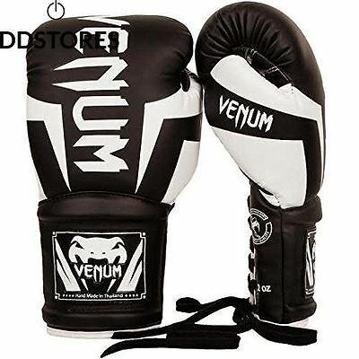 Venum Elite Gants de Boxe à Lacet Mixte Adulte Noir 8oz