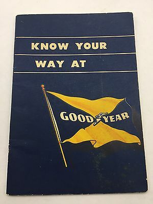 Goodyear Tire And Rubber Employee Handbook 1944 Akron Ohio