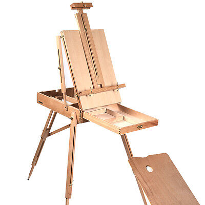 New Easel Sketch Box French Wooden Portable Folding Art Artist Painters Tripod