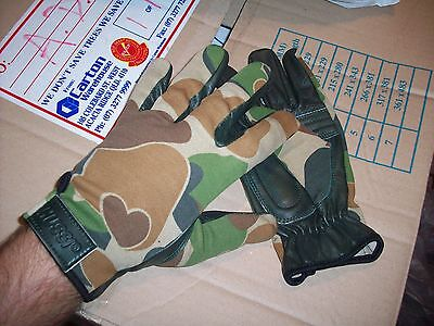 >>> Ozzie Camo Combat Gloves - Leather Palm <<< Australian Army  New