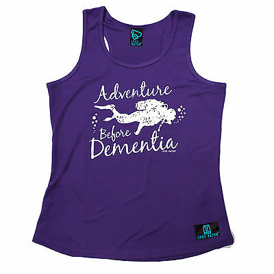 Adventure Before Dementia Open Water WOMEN DRY FIT VEST singlet birthday diving