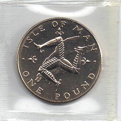 IOM Isle of Man Manx 1978 £1 One Pound Coin Triskeles uncirculated MM AA sealed