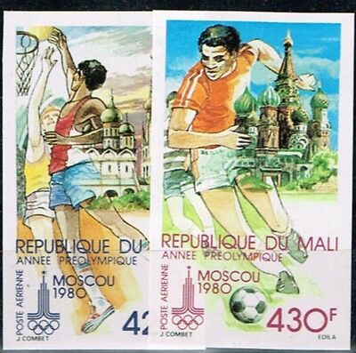 Mali.1980 Summer Olympics Game.Moscow.Imperforated.Soccer.MNH.**