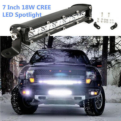"1p 18W 7"" LED Work Light Bar Spot Beam Offroad 4WD UTE SUV Fog Driving Lamp"