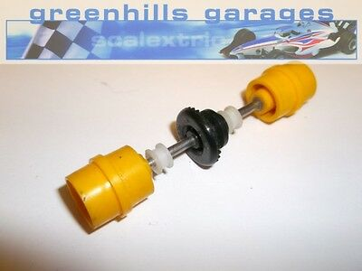 Greenhills Scalextric Ferrari 312T Rear axle and wheels yellow (P1801) used
