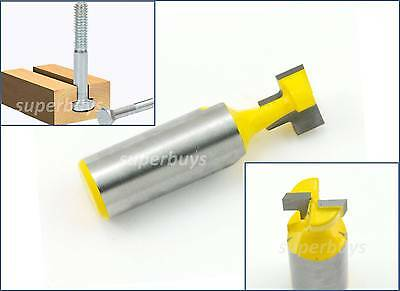 """12.75mm 1/2"""" T-Slot Bottom Cleaner Cutter Cutting Cut Router Bit Milling Keyhole"""