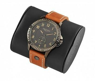 Triumph Black Watch with Brown Leather Strap