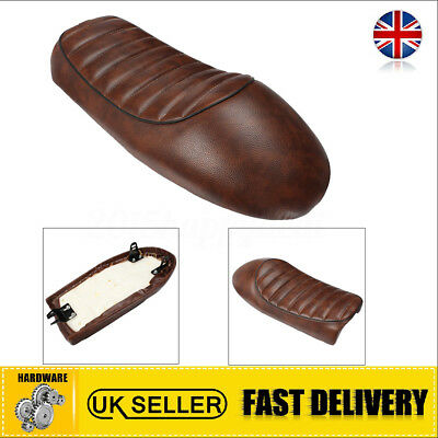 Waterproof Brown Vintage Cafe Racer Hump Motorcycle Seat Saddle Cover For Honda