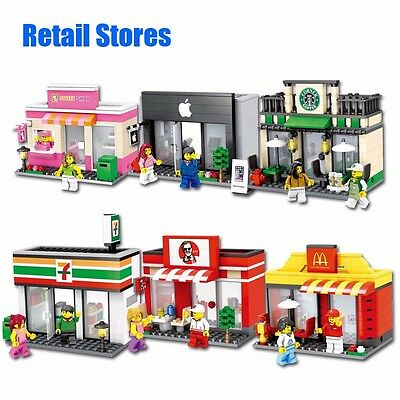 Blocks Retail Street Store Building Set Toys Lego Compatible With Original Box