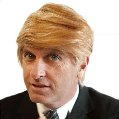Donald Trump Wig Costume Accessory Billionaire Hair Adult Adjustable Fancy Dress