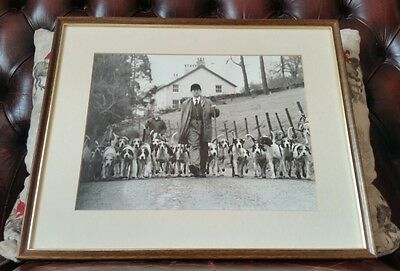 Blencathra Foxhounds Framed Photograph Barry Todhunter With Associate Cumbria