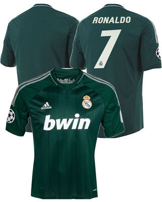 Uefa Real Madrid Adidas Maglia Calcio Football Shirt maniche corte Verde 2012 1