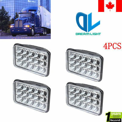 4pc LED Headlights For Kenworth T800 T400 T600 W900 Classic132 Buick Regal 81-87