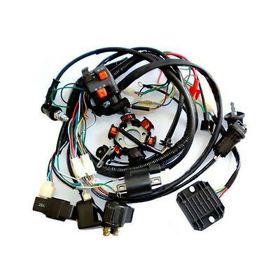 Super Wiring Harness CDI Coil Solenoid For GY6 150cc ATV Quad Buggy Kart H215