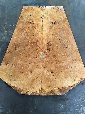 Burl Yellow Box Electric Guitar Drop Top . Luthier . Knife Scales #669