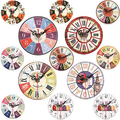 Vintage Rustic Retro Shabby Chic Antique Kitchen Home European Style Wall Clock