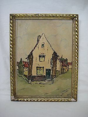 Belgian 20th Century Watercolour Painting by ROGER GOBRON