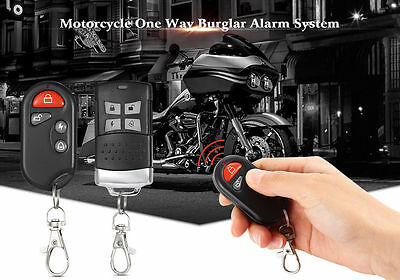 Durable Motorcycle Alarm System One Way Burglar Alarm System 9 -15V